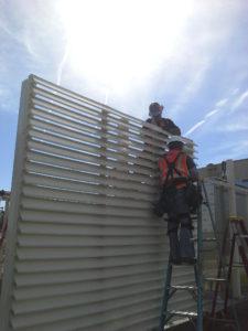 Constructing a new mechanical yard equipment screen
